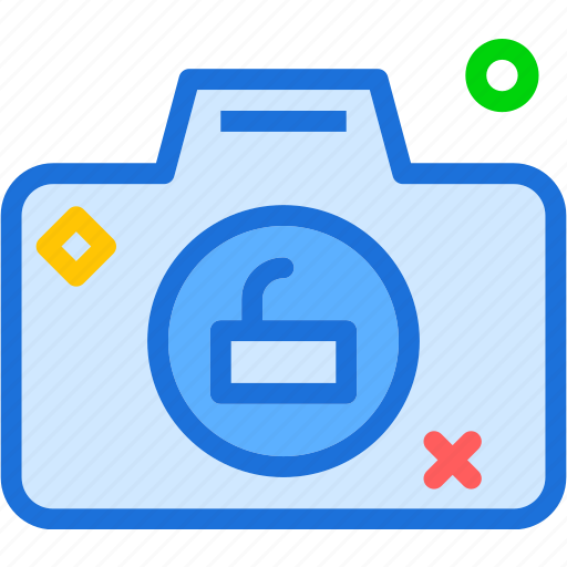 camera, device, photography, photoshoot, unlock icon