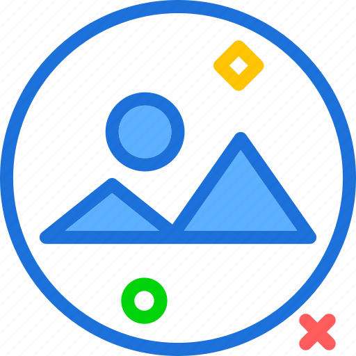 circle, edit, landscape, photography, picture icon