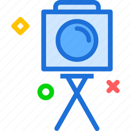 camera, photography, photoshoot, tripod icon