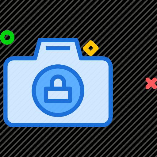 camera, device, lock, photography, photoshoot icon