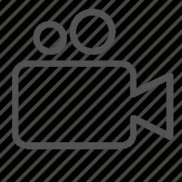 camera, media, plain, video icon