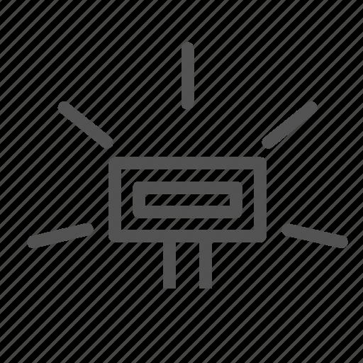 device, flash, light icon