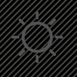 brithness, light, options, settings, shine, sun icon
