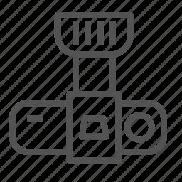 camera, modern, photo, top, view icon