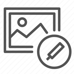 edit, pen, photo, picture icon