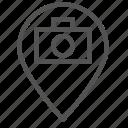 camera, location, mark, photo, picture, pin icon