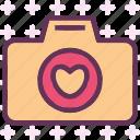 camera, device, heart, photography, photoshoot