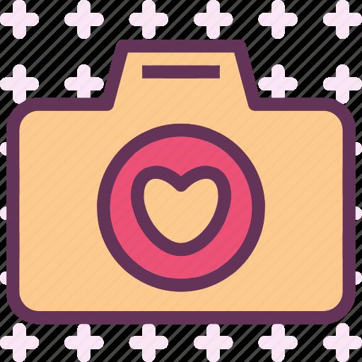 camera, device, heart, photography, photoshoot icon