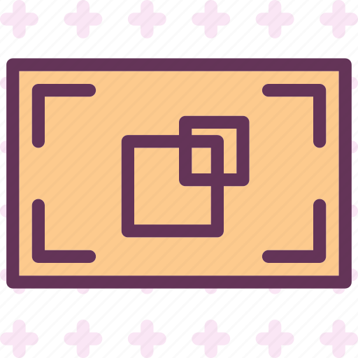 double, edit, focus, increase, point, zoom icon