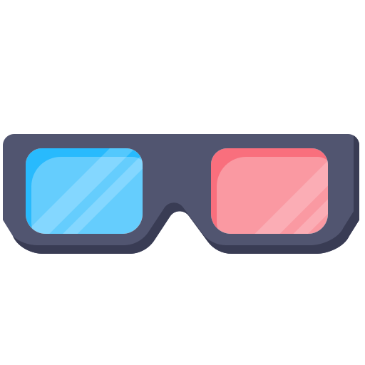cinema, glasses, layer, movie, photo icon