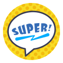 comics, hero, layer, photo, sticker, super, word icon