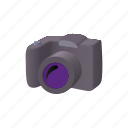 camera, cartoon, equipment, lens, picture, slr, technology icon