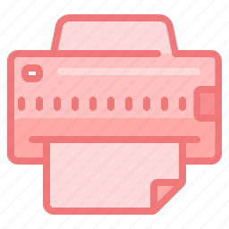 device, document, office, paper, print, printer icon