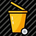 bin, delete, dustbin, eliminate, garbage, recycle, remove icon