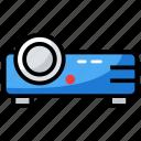 cinema equipment, entertainment, film, multimedia presentation, projector icon