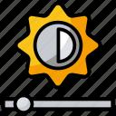 brightness, brightness control, brightness level, camera brightness, sun brightness icon