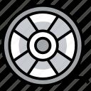 camera reel, film negatives, film reel, image reel, movie reel, reel roll icon