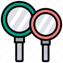 magnifier, magnifying glass, search, searching tool, zoom icon