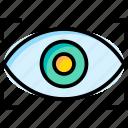 eye, circle, lens, vision, see