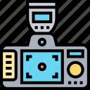 dslr, back, viewfinder, monitor, camera