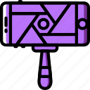 photography, record, selfie, stick, video