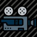 camera, movie, photography, record, video icon