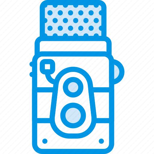 camera, photography, record, video, vintage icon