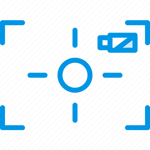 battery, low, photography, record, video icon