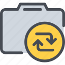 arrow, cam, camera, device, media, photography icon