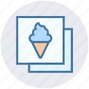 frame, ice cream, photo, photography, picture, sweet icon