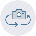 arrows, camera, exchange, image, photo, photography, picture icon