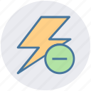 camera, camera flash, flash, minus, photo, photography, storm icon