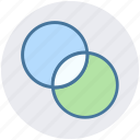circles, filter, graphic, intersection, photography, vin diagram icon