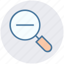 magnifier, minus, remove, search, view, zoom icon