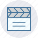 action, cut, film, movie, photography, record, video icon