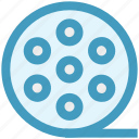 film, film reel, movie reel, photography, record, reel, video icon