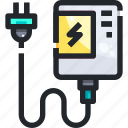 bank, battery, charger, electronics, power, recharge, technology icon