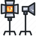 bulb, electric, lamp, light, lights, spotlight icon