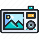 camera, digital, photo, photograph, picture, technolog icon