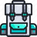 backpack, baggage, bags, electronics, luggage, travel icon