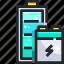 battery, electronics, full, level, status, technology icon