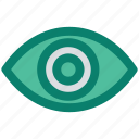eye, photography, setting, shutter, visibility, zoom icon