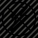 flash off, image, photo, photography icon