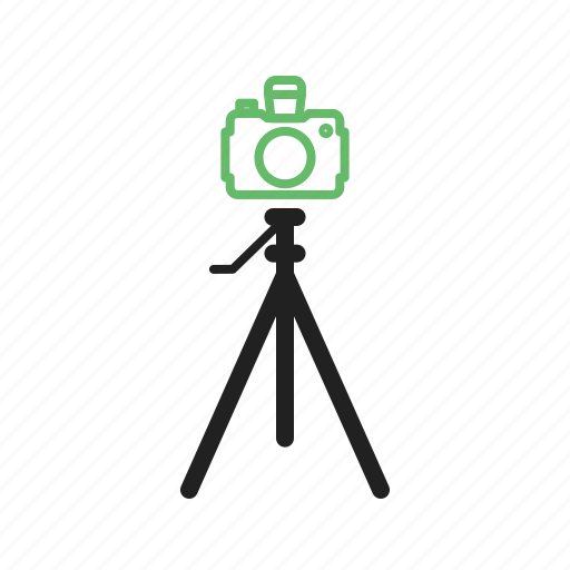 camera, equipment, on, photography, stand, tripod, video icon