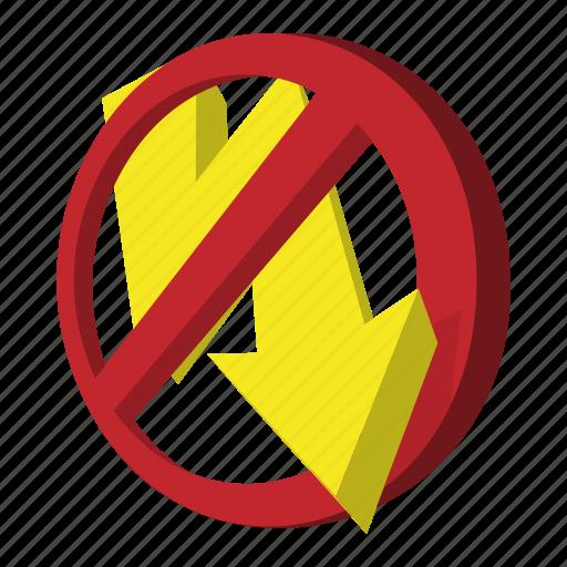 cartoon, flash, lightning, no, photo, sign, style icon