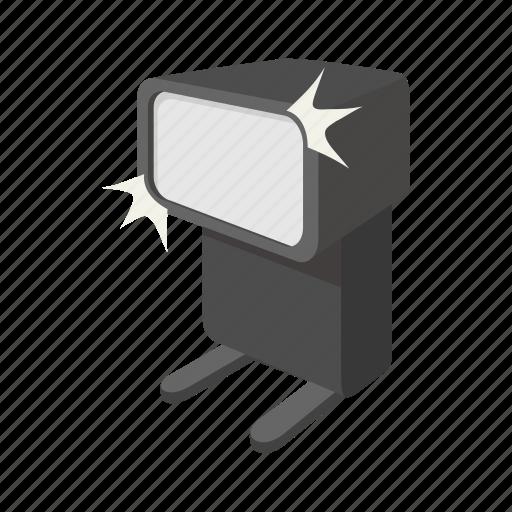 camera, cartoon, design, flash, remote, sign, style icon