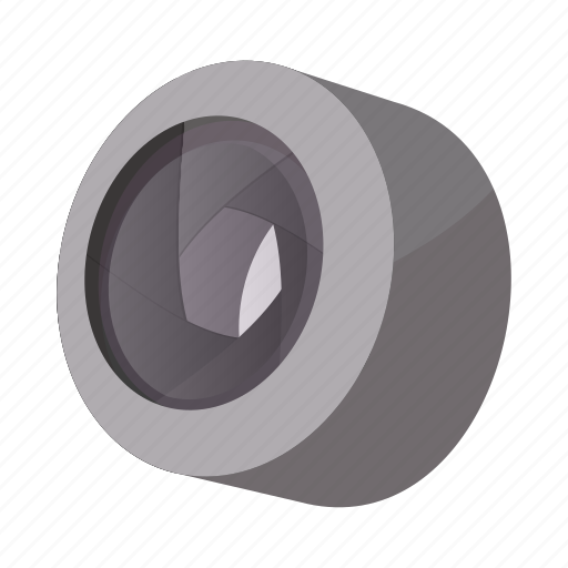 Camera, cartoon, design, lens, objective, sign, style icon - Download on Iconfinder