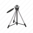 cartoon, design, element, equipment, sign, style, tripod icon