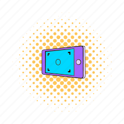 camera, comics, focus, frame, picture, screen, viewfinder icon