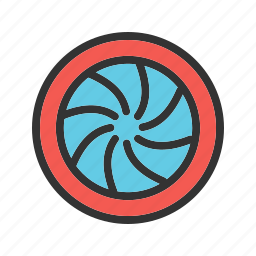camera, circle, graphic, photography, round, shape, shutter icon